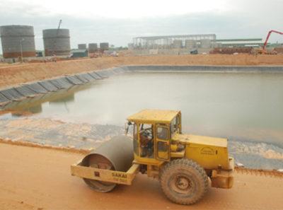 Thi công hồ BIOGAS nhà máy ETHENOL Phú Thọ