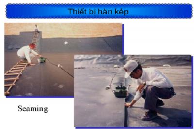 thi cong mang chong tham HDPE bang may han Kep